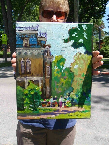 Painting of Glanmore house , done at the Belleville Plein air Competition.